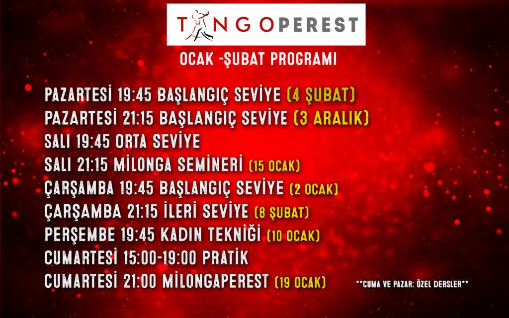 Ocak Şubat Programı
